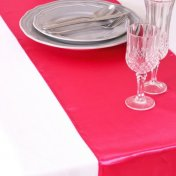 Chemin de Table Mariage Satin Fuchsia (Lot de 5)