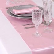 Chemins de Table Mariage Satin Rose (Lot de 5)