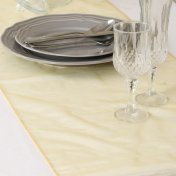 Chemin de Table Organza Or (Lot de 5)
