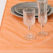 Chemin de Table Mariage Organza Orange (Lot de 5)