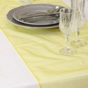 Chemin de Table Mariage Organza Jaune (Lot de 5)