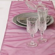 Chemin de Table Mariage Organza Raisin (Lot de 5)