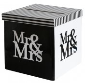 Urne de mariage tirelire Mr & Mrs
